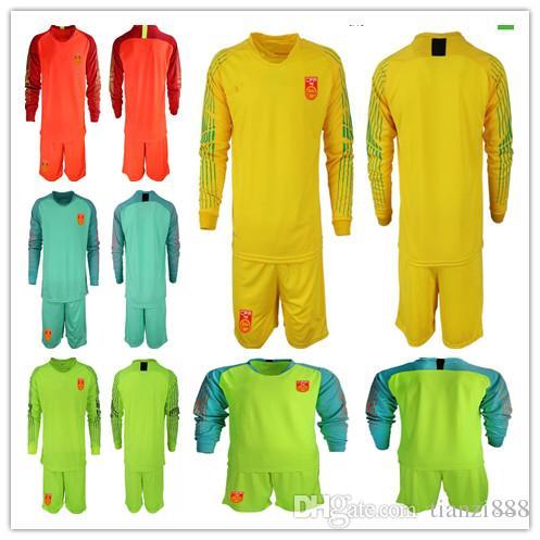 2019 1819 China New Men Soccer Jersey Goalkeeper Shirts Short Sleeve  Uniforms Football Sets ZENG G. WANG D.L. YAN J.L. Long Sleeve Goalkeeper  Kit From ... 0342d909f