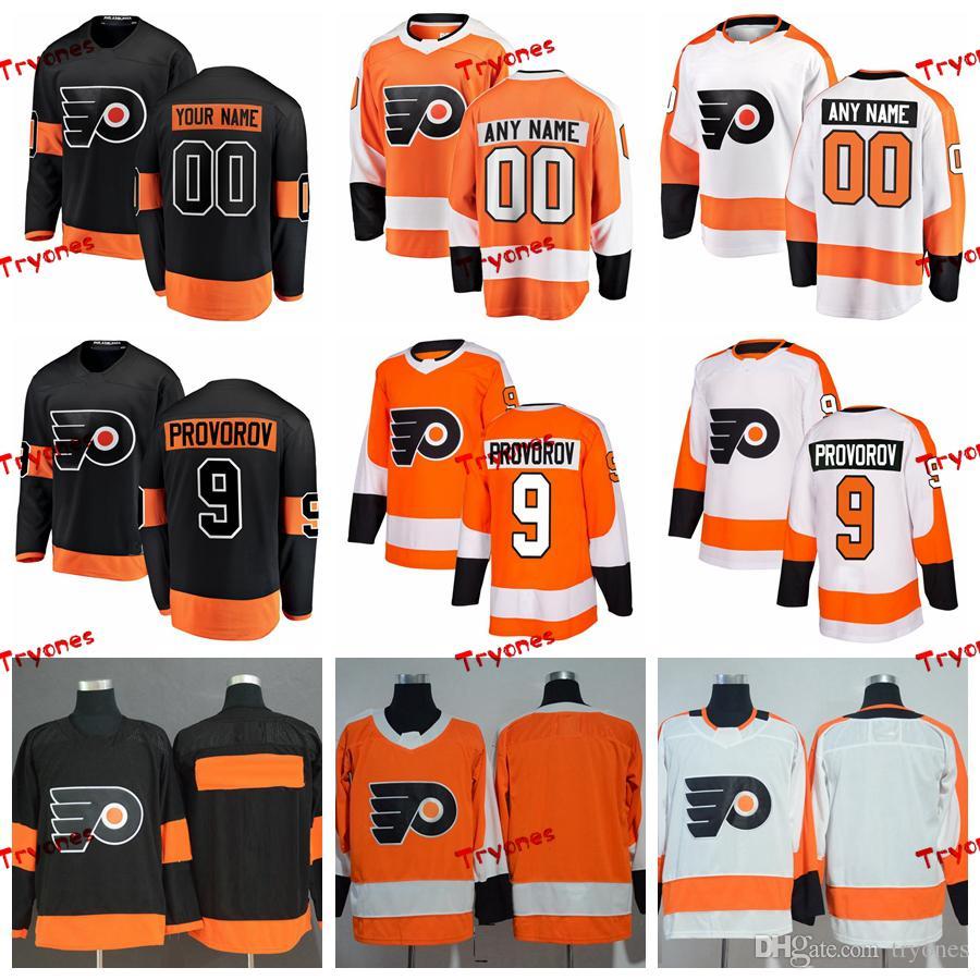 finest selection e4894 0e31a 2019 Ivan Provorov Philadelphia Flyers Stitched Jerseys Customize Home New  Alternate Black Shirts #9 Ivan Provorov Hockey Jerseys S-XXXL