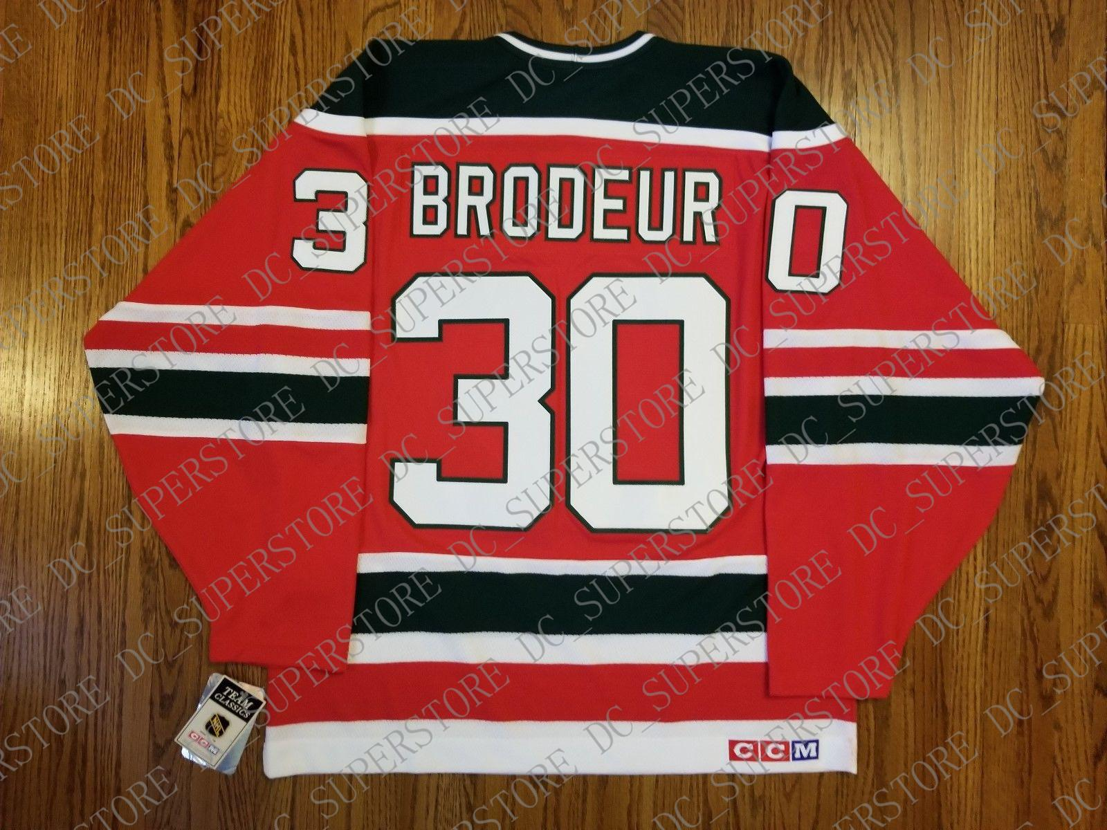 e45abf22c2b 2019 Cheap Custom Marty Brodeur Vintage New Jersey Devils CCM Jersey  Christmas Tree Green Stitched Retro Hockey Jersey XS 5XL From  Dc superstore