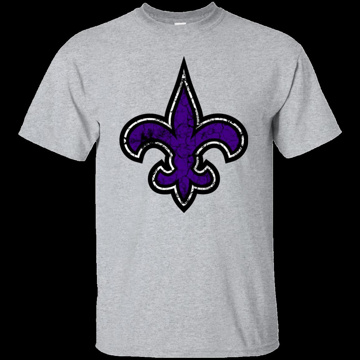 6042b8b4 Fleur de Lis Purple Distressed New Orleans Mardi Gras Tshirt Saints Big  Easy Funny free shipping Unisex Casual