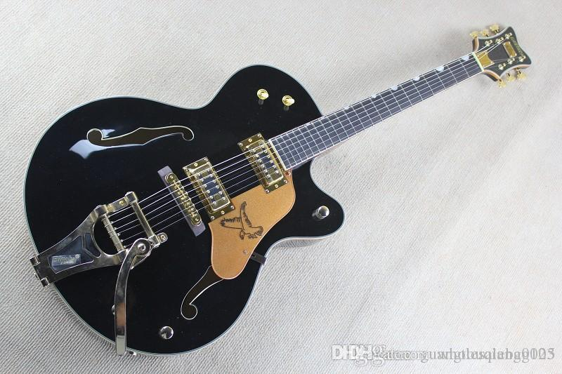 abc Free shipping black Ebony fingerboard Falcon 6120 Semi Hollow Body Korean Tuners Jazz Electric Guitar With Bigsby