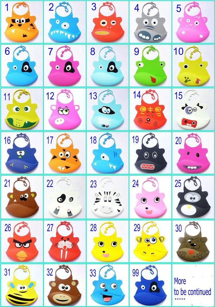1PC Novelty Infant Baby Cartoon Soft Silicone Waterproof Saliva Dripping Bibs