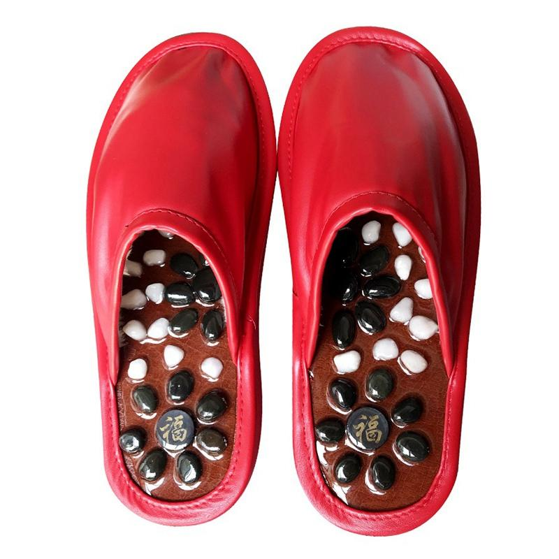 Hot Sale Women Winter Slippers Cobblestone Massage Couple Shoes for Bedroom House Slip-On Home Slippers Unisex Indoor