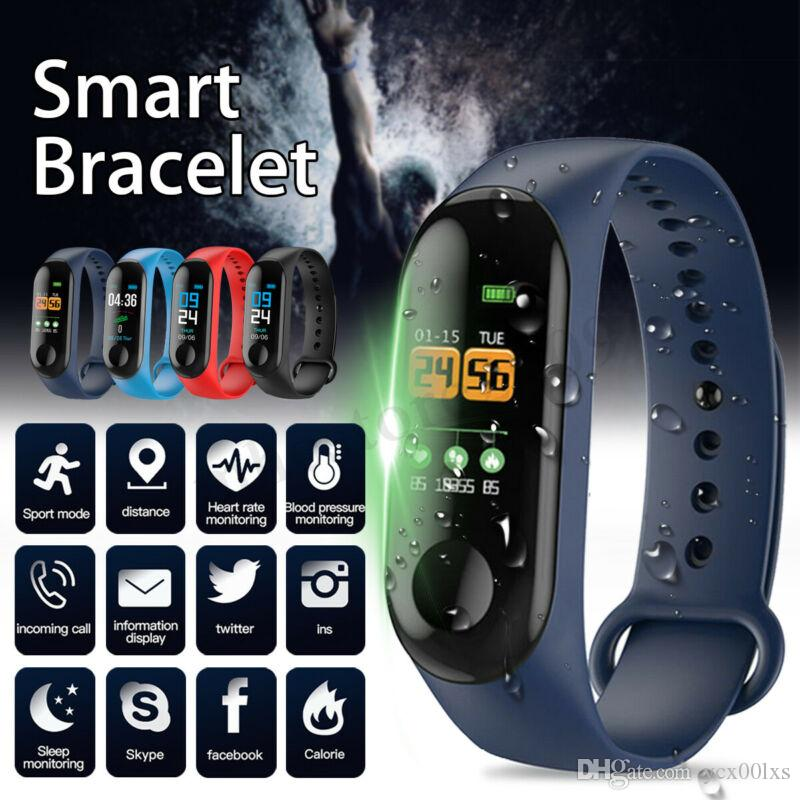 Factory Store Smart Watch Band Bracelet Wristband Fitness Tracker Blood Pressure Heart Rate M3 Smartwatch Drop Shipping