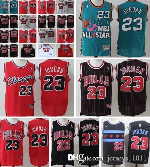 newest b19be 06b09 Retro Chicago 23 45 M J JD Basketball jerseys 33 Scottie Pippen 91 Dennis  Rodman Bulls #23 Michael Basketball jersey