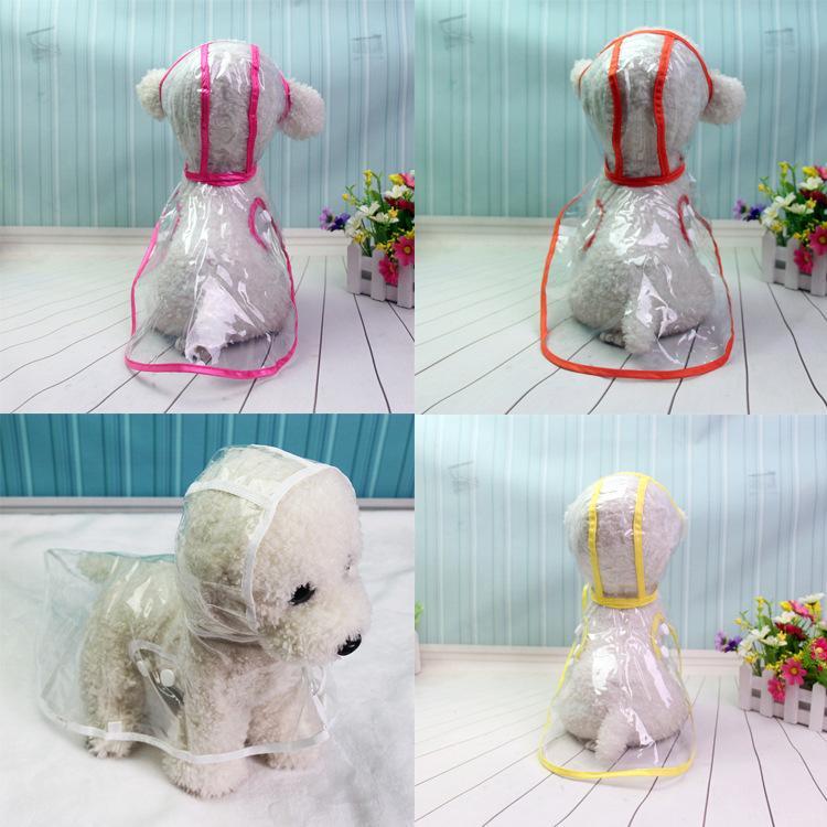 Hund Frühling Regenmantel Kleidung Haustier Geladen Und Kleiner Vip Wasserdicht Hunde Teddy Welpen Transparent Sommer knwOP0