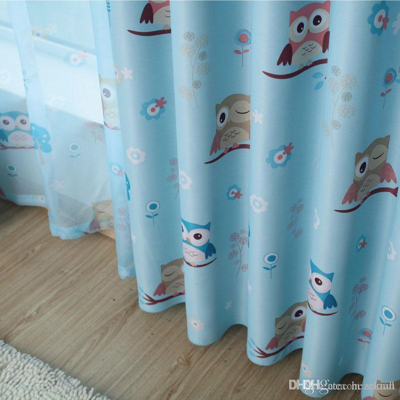 Simple modern curtain all shades Children s bedroom custom finished screens  curtains