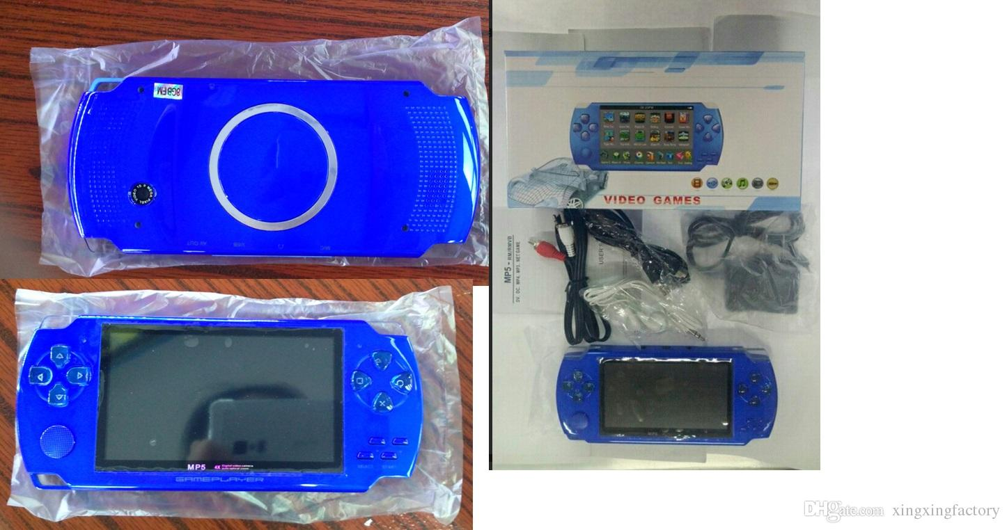 wholesale 4.3 Inch PMP Handheld Game Player MP3 MP4 MP5 Player Video FM Camera Portable 8GB Game Console DHL Free