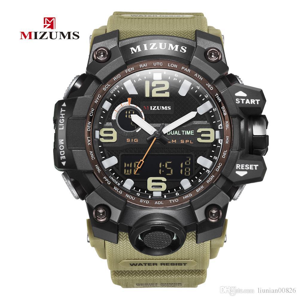 Sportuhren Für Schock Military Wasserdichte Uhr Digitaluhr Herrenmode Armbanduhr Männer Mann Elektronische Mizums Led Quarz Großhandel 2WIED9HeY