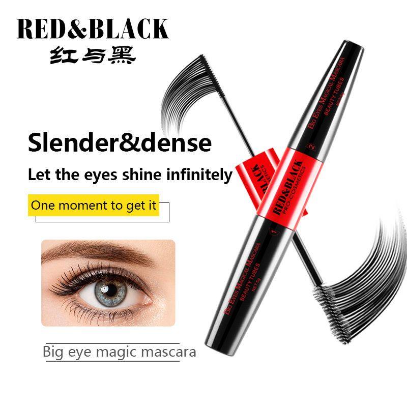 0a59653e37f6 Red&black New 4d Silk Fiber Lash Mascara Waterproof 3d Mascara For Eyelash  Extension Thick Lengthening Eye Lashes Cosmetics