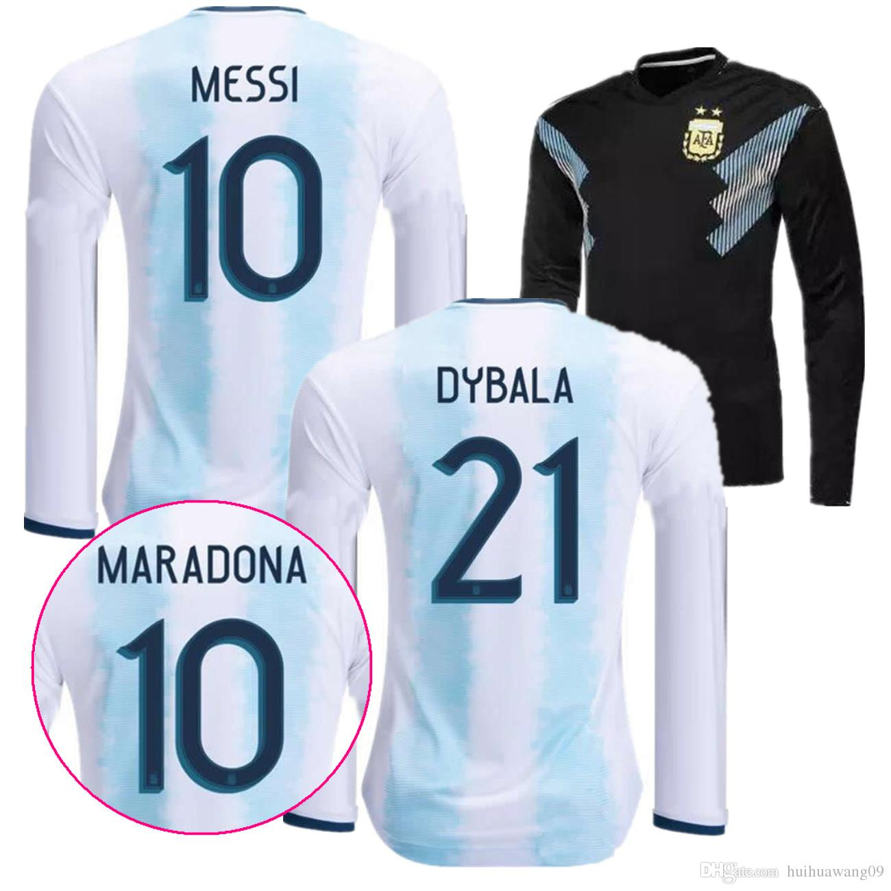 874a8bad69a 2019 2019 ARGENTINA MESSI 10 Long Sleeve LS SOCCER JERSEYS HOME Copa  AMERICA CUP AWAY ICARDI KUN AGUERO JERSEY 2020 FOOTBALL OFFICIAL FONT SHIRTS  From ...