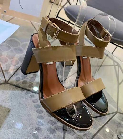 2019 fashion new sandals women's high heel sandals leather women's shoes