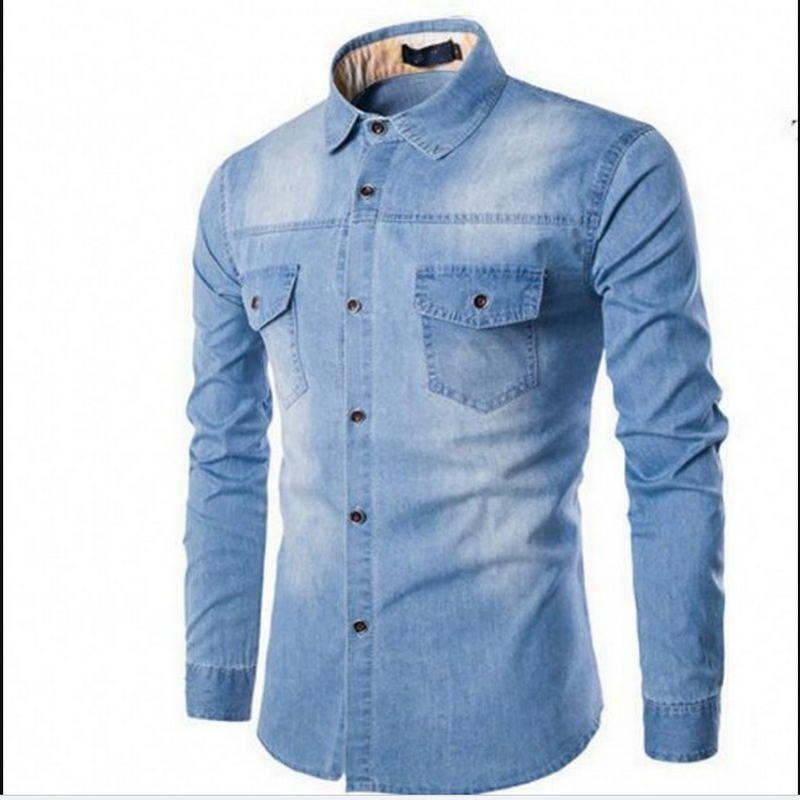 outlet store ff0c2 3a425 Camicie uomo alta qualità 2019 moda marche casual morbido cotone uomo  camicia Streetwear manica lunga