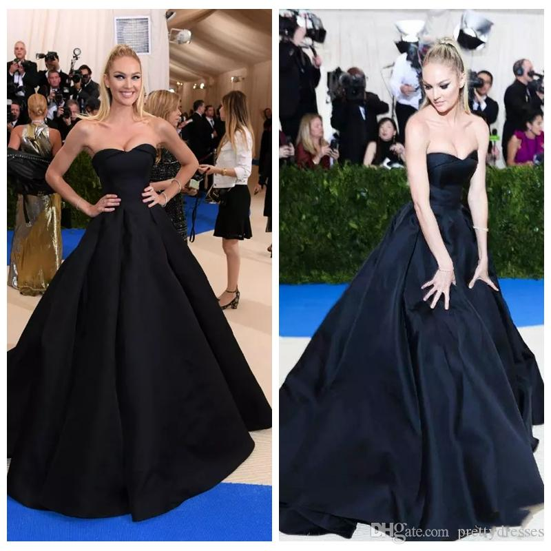 7bb129ee9c 2019 Sweetheart Met Gala Ball Gown Evening Dresses Long Candice Swanepoe  Black Prom Party Gowns Red Carpet Celebrity Gowns Vestidos De Soire Evening  Dresses ...