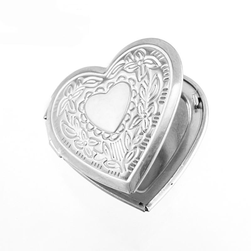 100% Stainless Steel Heart Couple Locket Pendant Openable Box Picture/Photo Frame Sachet Perfume Box Wholesale 10pcs