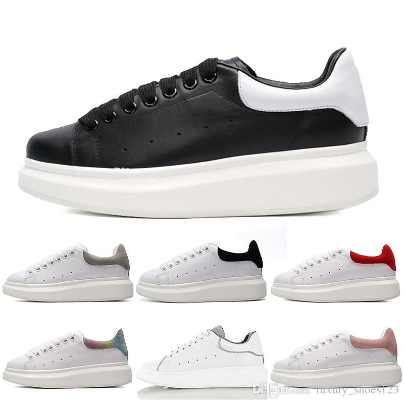 2019 new Luxury Designer Women Shoes 3M Reflective Platform Mens Casual Shoe Triple White Black Snakeskin Flat Party Sneakers 36-44