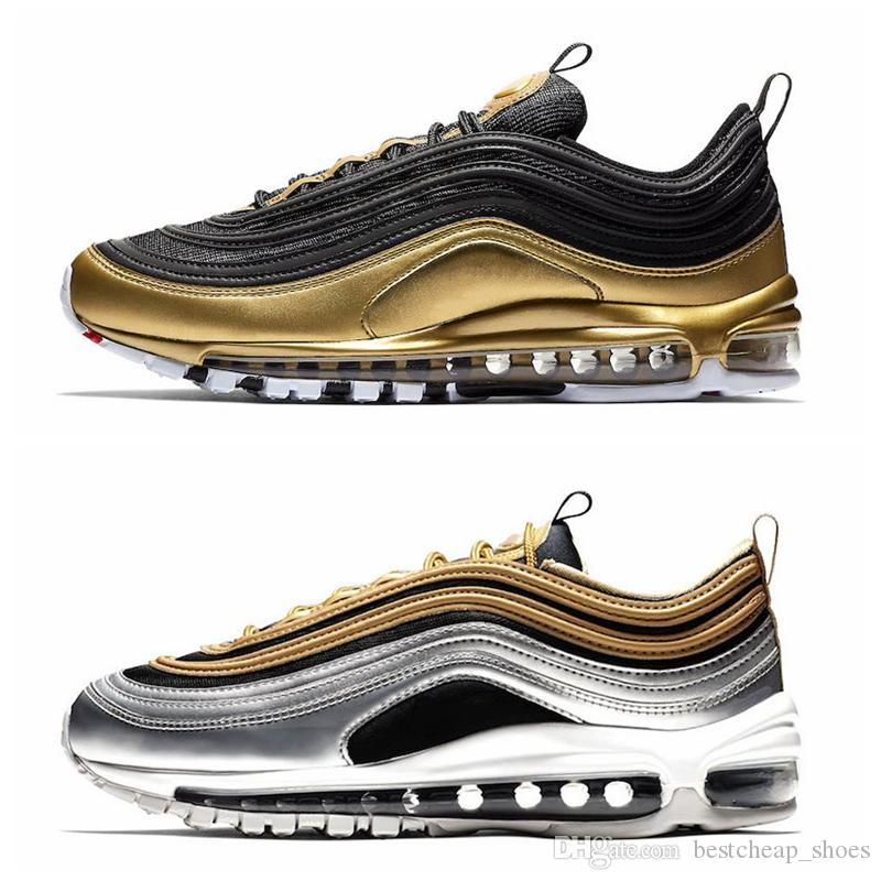 421630ccc35aec ... 2019 New Spruce Aura Metallic 97 Mens Running Shoes Blue Undefeated Trainer  97s Midnight Navy Air ...