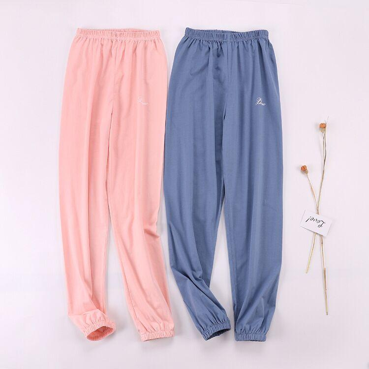 200b9c8b9 2019 2019 New Women Cotton Casual Sleep Bottoms Large Size Elastic Waist  Soft Pant Pajama Loose Pants Female Sleep Pants From Sweet59