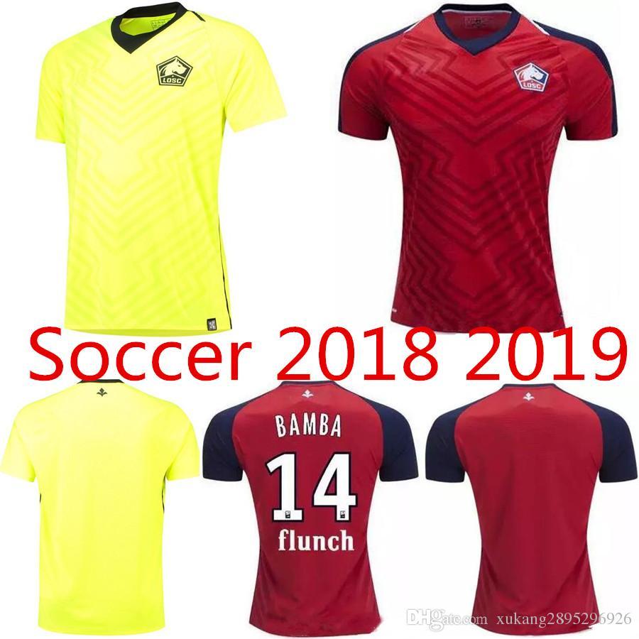 18 19 Lille Soccer Jerseys OSC PEPE Football Shirt 2018 2019 BAMBA Camiseta  De Futbol LEAO ARAUJO LILLE REMY Maillot De Foot Lille PEPE LEAO Online  with ... 542557e2f1658