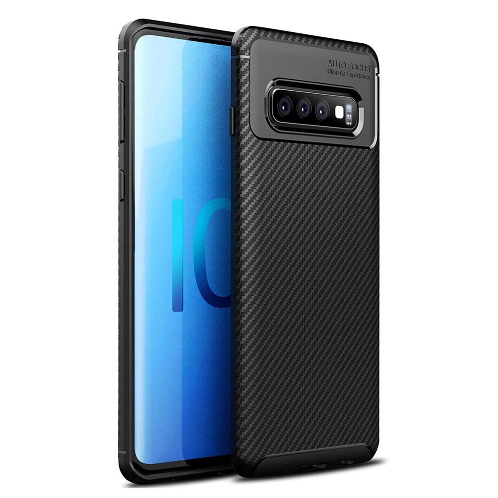 cb7a3c49004 Carcasa De Celular Para Samsung Galaxy S10 Funda De Fibra De Carbono TPU  Suave Absorción De Golpes Cubierta Protectora Flexible Para Samsung Galaxy  S10 Plus ...