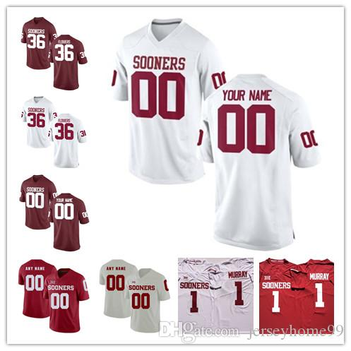 Custom Oklahoma Sooners Jersey Hurts CeeDee Lamb Mykel Jones Trey Sermon Marquise Brown Brooks Any Name Number College Football Jerseys