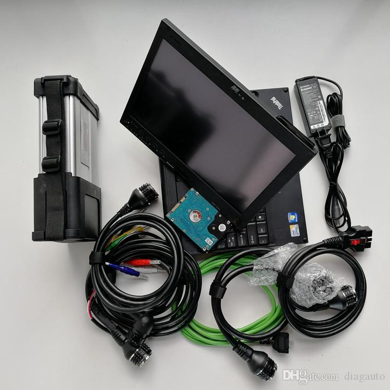Super MB Star C5 sd connect MB SD C5 diagnostic tool with laptop X200t Touch screen with diagnosis soft-ware V2019.07 ready work