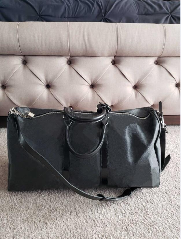 c161f0afe Top Quality Mens Luxury Designer Travel Luggage Bag Men Totes Keepall  Leather Handbag Duffle Bag Sac 2019 Brand Fashion Luxury Designer Bags Gym  Bags Bags ...