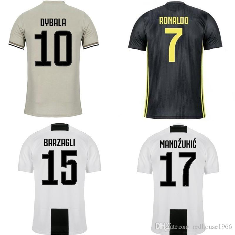 best loved 5e076 d3df9 2018/19 Kids Soccer Jerseys RONALDO JUVENTUS Kits EA Sports DYBALA  MARCHISIO BONUCCI Kids PJANIC Football Shirt