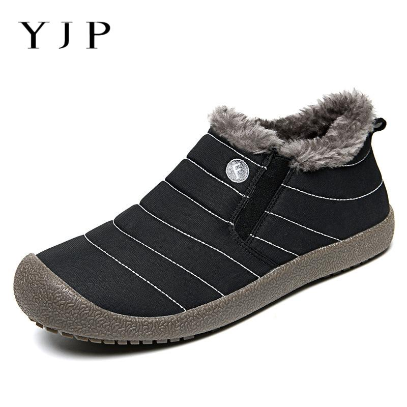 90d13f1deb YJP Big Size Ankle Boots Men Shoes Casual Low Top Sneakers Slip-on Loafers  Winter Snow Boots Large Size Eur40-46 Botas Hombre