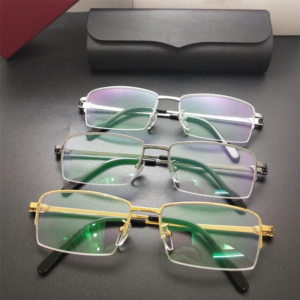 1da38a1cfe1b 2019 Semi Rimless Fashion Glasses High Quality Titanium Sunglasses ...