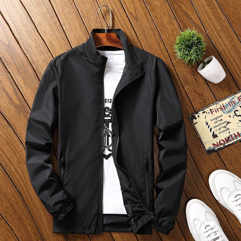7XL Large Size Clothing 2019 Spring New Men Solid Jacket Sportswear Young Men  Fashion Business Casual Loose Bomber Jacket Coat Cheap Mens Jackets Coat Man  ... 7a55f8160156