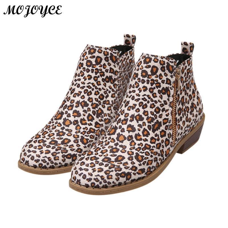 0a63a63d Compre Botines Casuales Para Mujer Botines De Tacón Bajo Botas Con Punta  Redonda Zapatos Con Cremallera A $27.85 Del Ajshoesfactory | DHgate.Com
