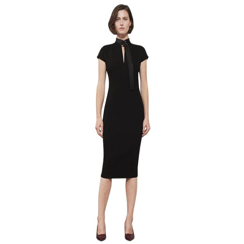 Ladies Office Wear Elegant Dress 2019 Bodycon Dresses Belted High