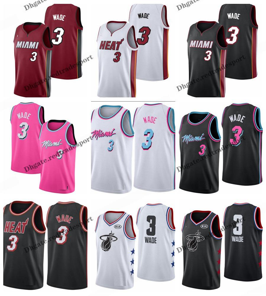 new concept 0b5bc 3a471 2019 Earned #3 Miami Dwyane Wade Heat Edition Basketball Jerseys Cheap City  Dwyane Wade Edition Stitched Shirts S-XXL