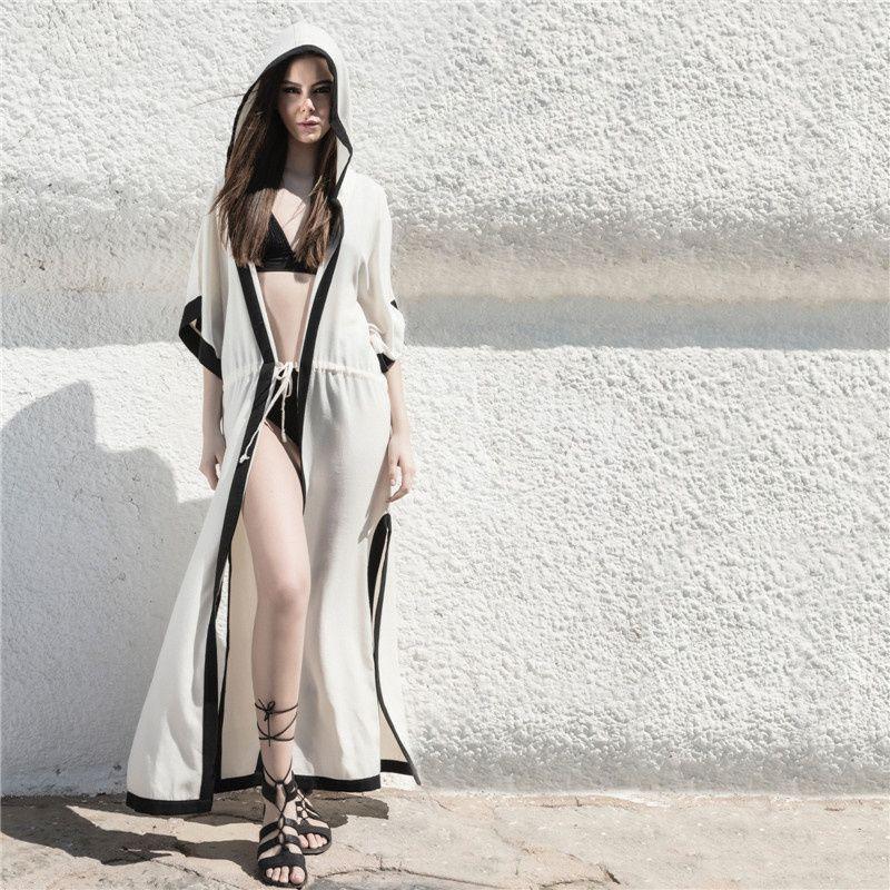e4b5b9af0a 2019 Chiffon Cardigan Beach Wear Cover Up Bikini Women 2019 Summer ...