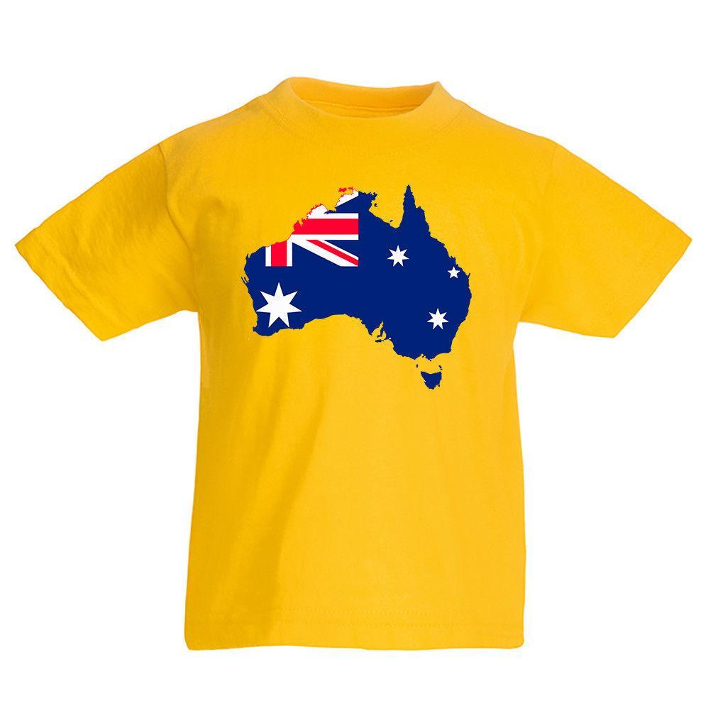 La Jamaïque KID/'S T-shirt pays drapeau carte Top Pour Enfants Garçons Filles Unisexe