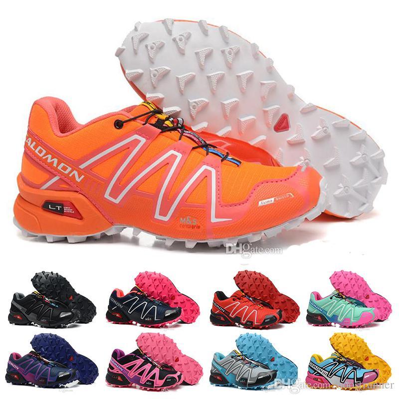 Speedcross 3 CS Running Shoes For Women Triple Orange Black Purple Pink Speed Cross 3 Jogging Walking Hiking Womens Designer Sneakers 36 40
