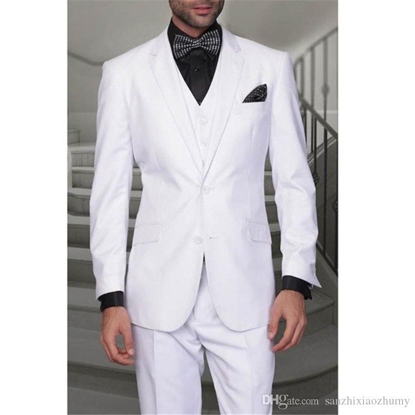 b83c92f38b7 Acheter Costume Pour Hommes Costume Trois Pièces Veste + Pantalon + Gilet Costume  Pour Homme Couleur Unie Costume De Mariée Marié De  85.8 Du ...