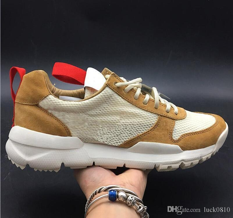 on sale d9f40 2c9c9 Scarpe NASA Craft Mars Yard 2.0 Tom Sachs x TS Scarpe da corsa per uomo  Natural Sport Red Sneaker Scarpe firmate Zapatillas Vintage