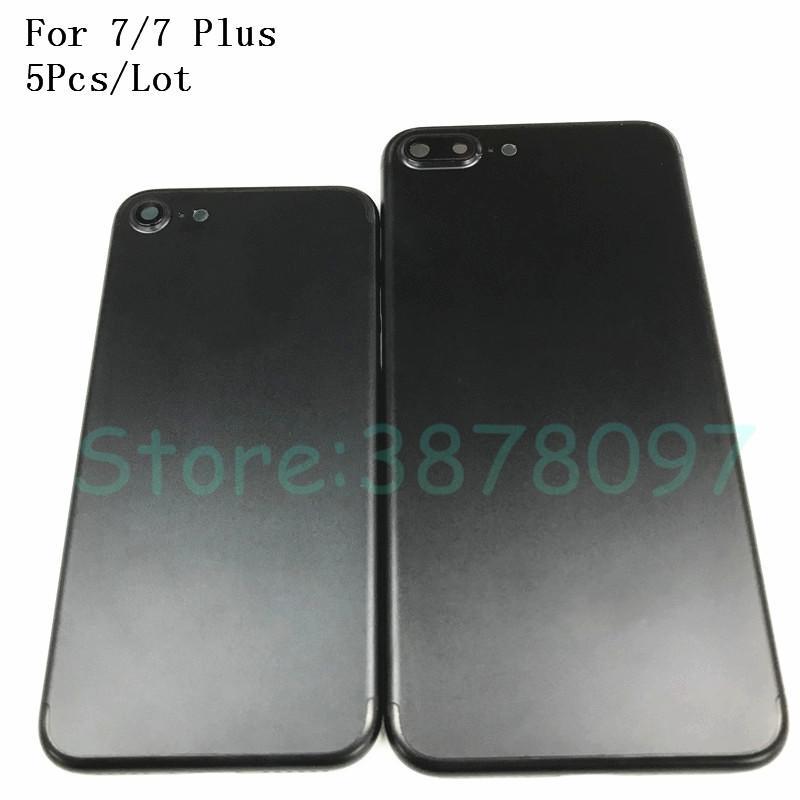 c3c945e262f Articulos Para Celulares 5 Unids Volver Carcasa De La Batería Para Iphone 7  7G 4.7 '' 7 Plus 5.5 '' Marco De Chasis Puerta Trasera Cubierta De Batería  Caso ...