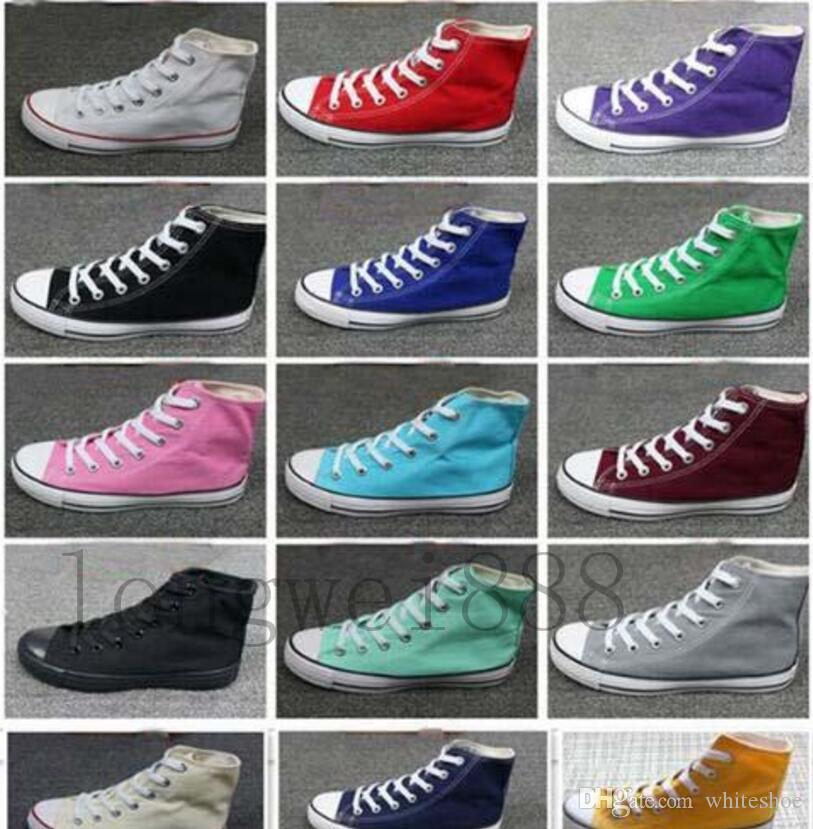 Factory price promotional price!femininas canvas shoes women and men,high/Low Style Classic Canvas Shoes Sneakers Canvas Shoes