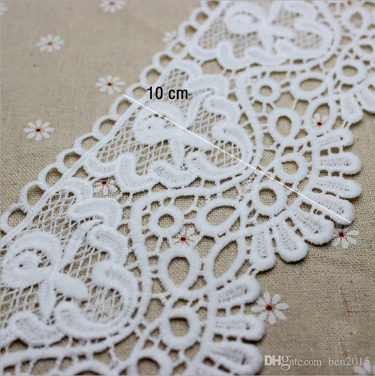 bc2d0a5d8 Compre Artesanato Atacado 9 Cm Branco / Preto Bordado Borlas Tecido Rendas  Guarnição Fitas DIY Costura Vestuário Materiais Artesanais De Ben2015, ...