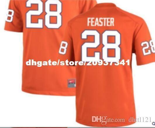 f86b601e2d6 2018 Cheap Men Tavien Feaster Clemson Tigers  28 Orange White Alumni Jersey  Stitched Football Jerseys
