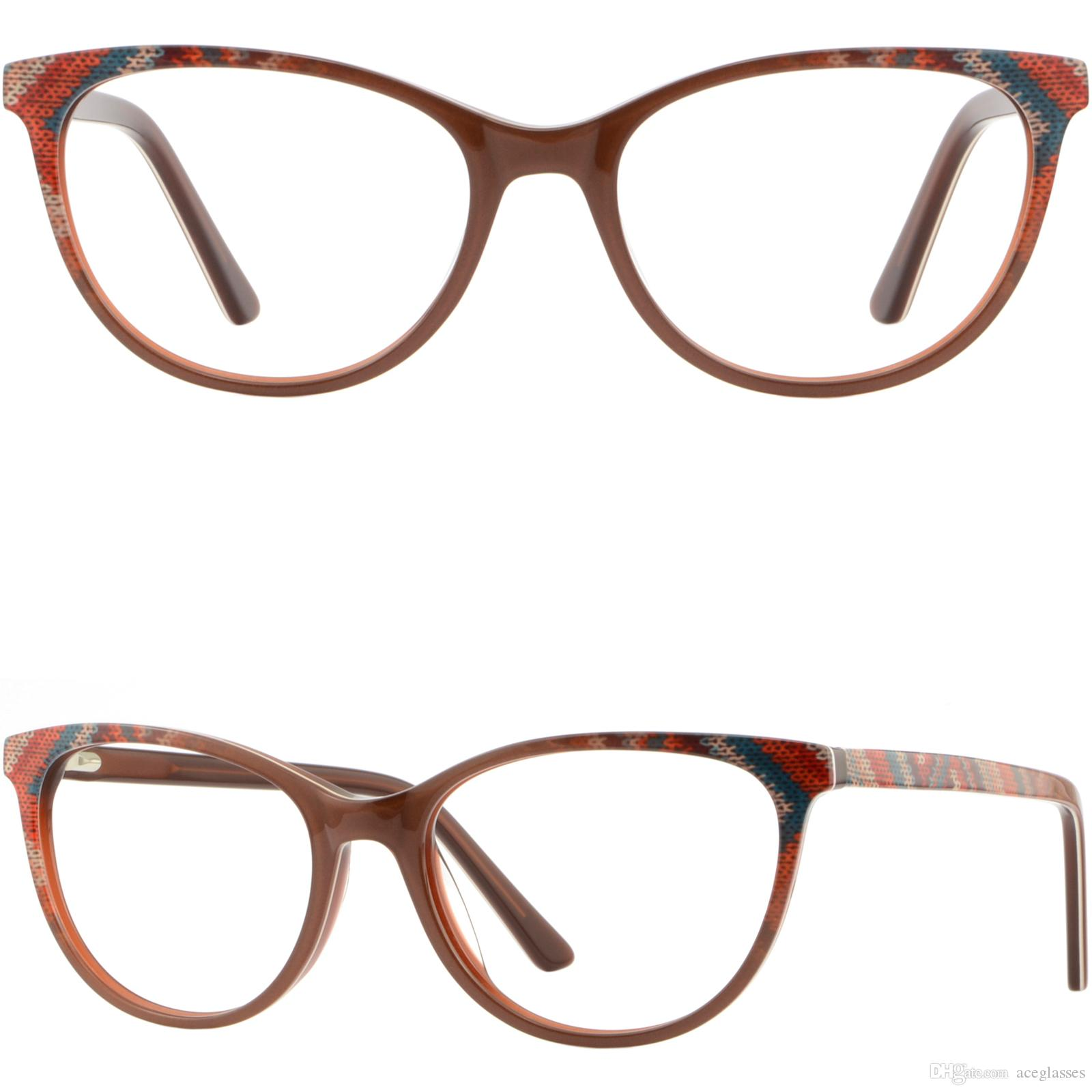 37dddd9143 Light Women s Eyeglasses Acetate Prescription Glasses Spring Hinges ...