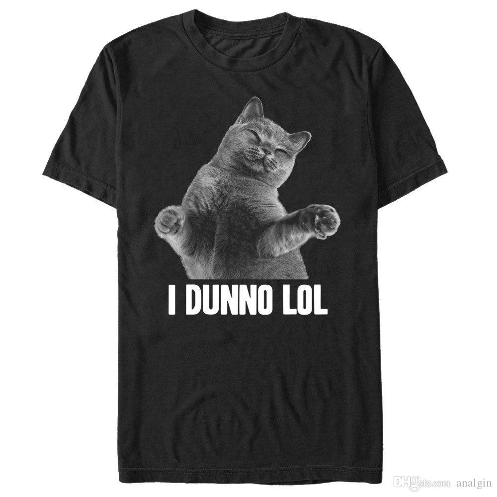 53b856755d3 Lost Gods I Dunno Lol Cat Mens Graphic T Shirt Tea Shirt Vintage Tee Shirts  From Analgin, $10.03| DHgate.Com