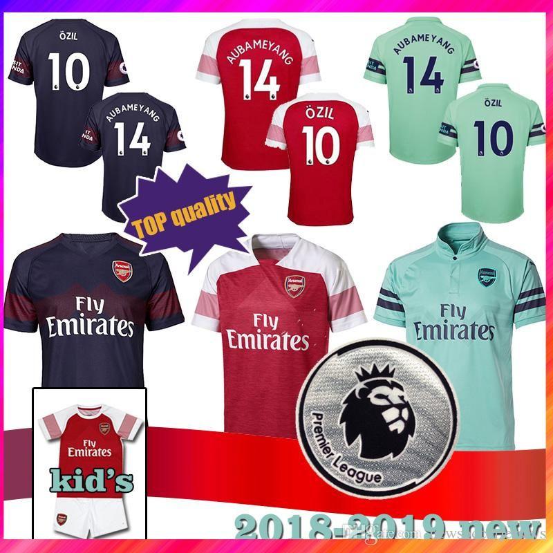 8d346ec2c9d6b Camiseta AAA + Arsenal De Tailandia 10 ÖZIL 14 AUBAMEYANG 4 MERTESACKER 6  KOSCIELNY 7 MKHITARYAN 8 RAMSEY Camiseta De Fútbol Superior Para HOMBRES Y  NIÑOS ...