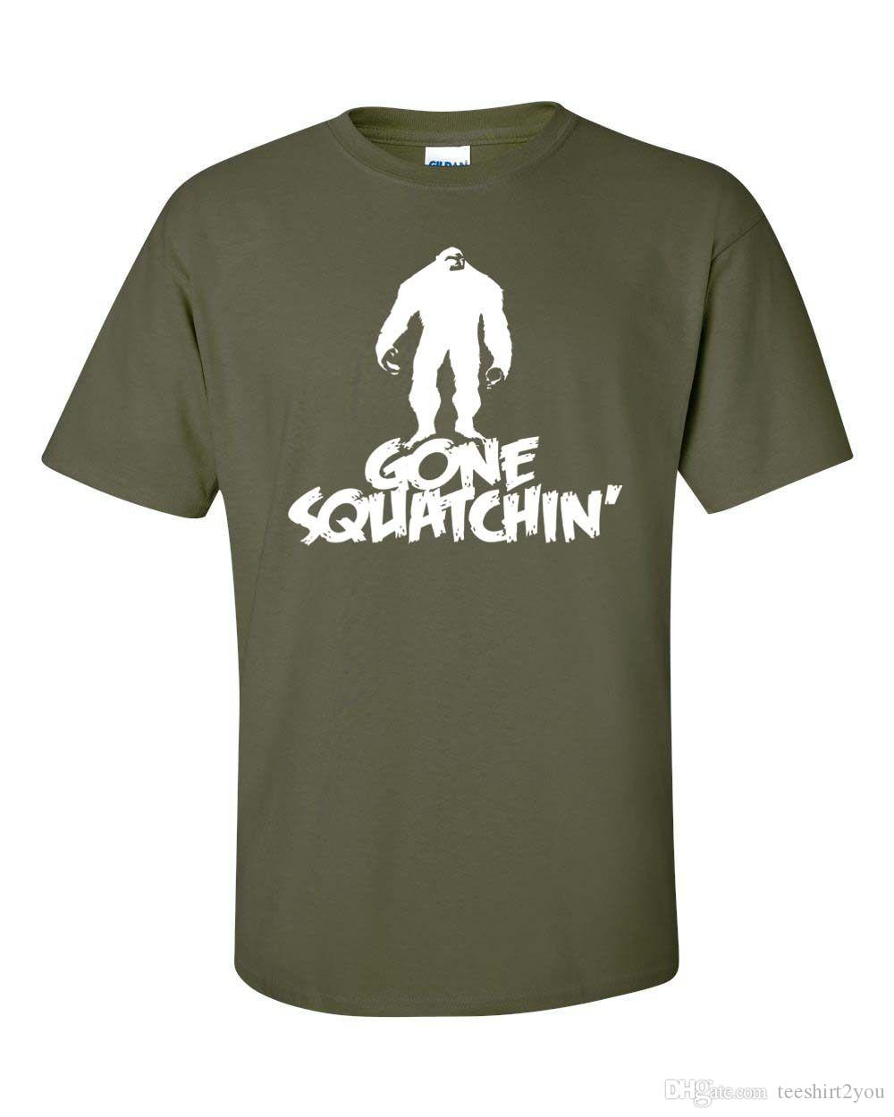 68eb76cd7 Gone Sasquatch Squatchin Big Foot Research Support Dropship Funny Men's  Tshirt 124 T Shirt For Men Gorgeous Short Sleeve Crewneck Cotton 3XL
