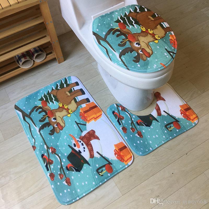 2019 Bath Mat Carpet Bathroom Mat Sets Anti Slip Bath Rugs Toilet
