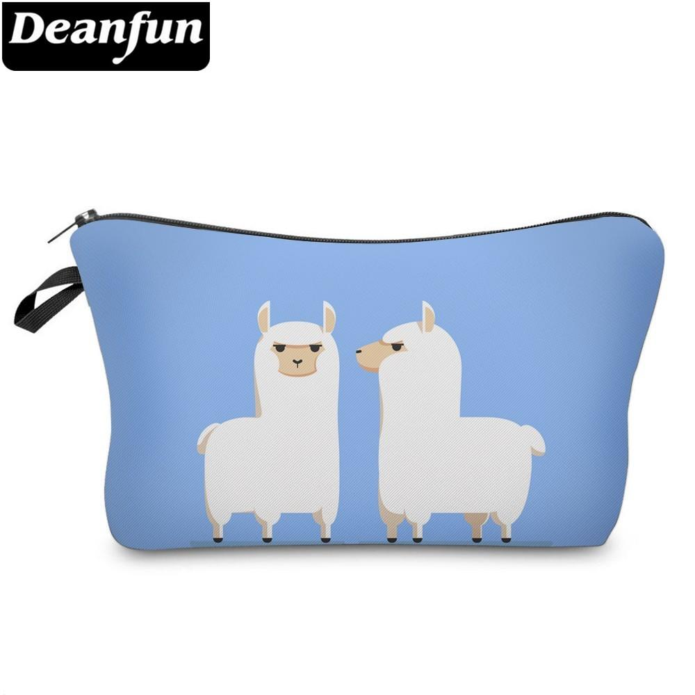 Deanfun Waterproof Cosmetic Bag Printing Love Llamas Roomy Makeup Bag  Toiletry Storage Pouch Neceser Gift Dropshipping 51366 Cosmetic Bags    Cases Cheap ... 5503209c1c