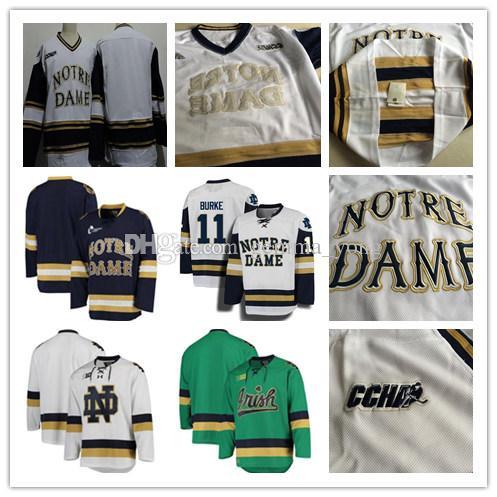 1d6c255dd Custom Notre Dame Fighting Irish College Men s Hockey 15 Andrew ...